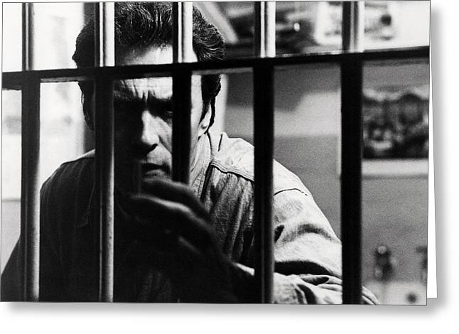Alcatraz Greeting Cards - Clint Eastwood in Escape from Alcatraz  Greeting Card by Silver Screen