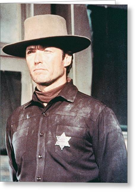Em Greeting Cards - Clint Eastwood in Hang Em High  Greeting Card by Silver Screen