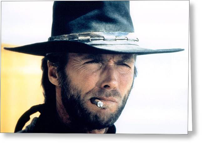 High Plains Greeting Cards - Clint Eastwood in High Plains Drifter  Greeting Card by Silver Screen
