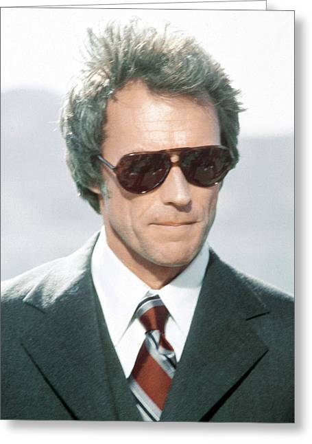 Enforcer Greeting Cards - Clint Eastwood in The Enforcer Greeting Card by Silver Screen