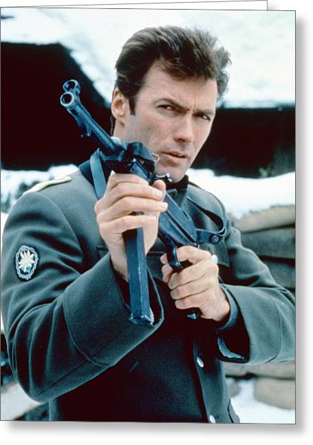 Where Greeting Cards - Clint Eastwood in Where Eagles Dare  Greeting Card by Silver Screen