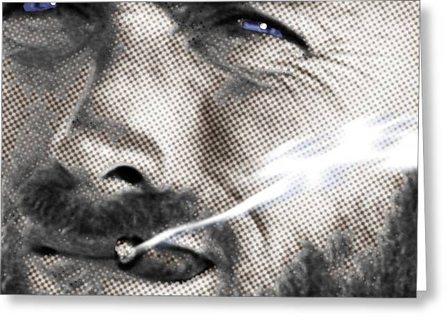 Warhol Paintings Greeting Cards - Clint Eastwood Western Greeting Card by Tony Rubino