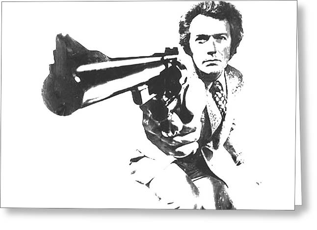Harry Callahan Greeting Cards - Clint Easwood 3b Greeting Card by Brian Reaves