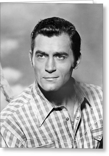 Clint Greeting Cards - Clint Walker Greeting Card by Silver Screen