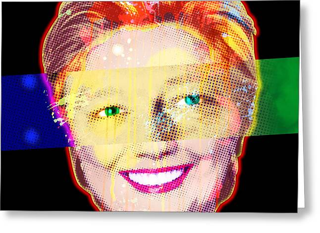 Engraving Digital Greeting Cards - Clinton Eyes Greeting Card by Gary Grayson