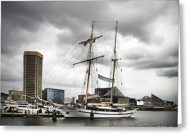 Tall Ships Greeting Cards - Clipper City Greeting Card by Brian Wallace