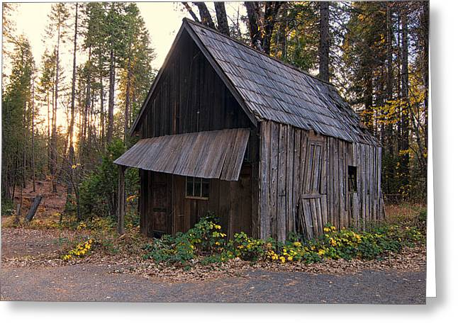 Old Wood Cabin Greeting Cards - Clipper Mills Greeting Card by Kurt Golgart
