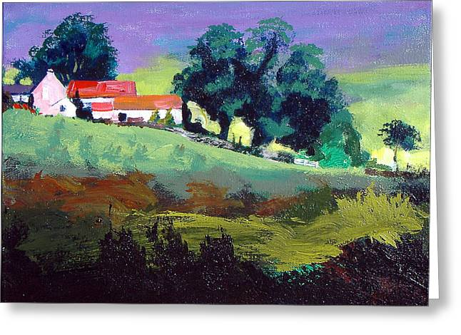 Pastureland Paintings Greeting Cards - Clitherbeck in the North York Moors Greeting Card by Neil McBride