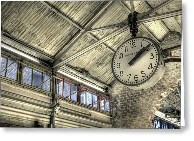 Chelsea Greeting Cards - Clock at Chelsea Market Greeting Card by Matthew Berry