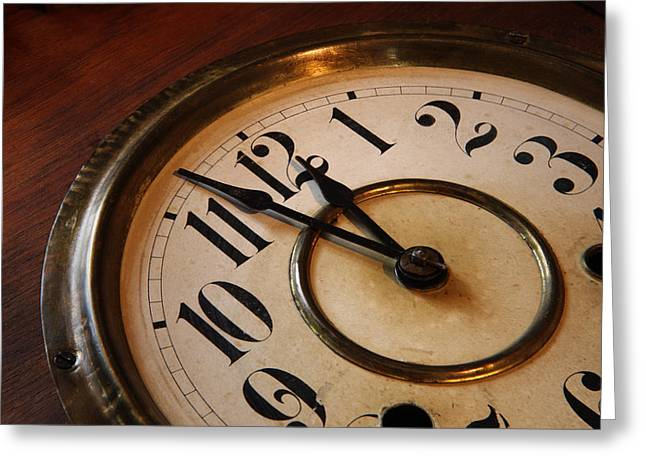 Clock face Greeting Card by Johan Swanepoel