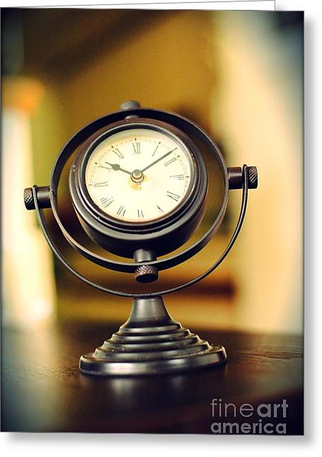 Clock Photographs Greeting Cards - Clock Greeting Card by HD Connelly