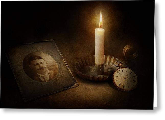 Mechanism Photographs Greeting Cards - Clock - Memories Eternal Greeting Card by Mike Savad