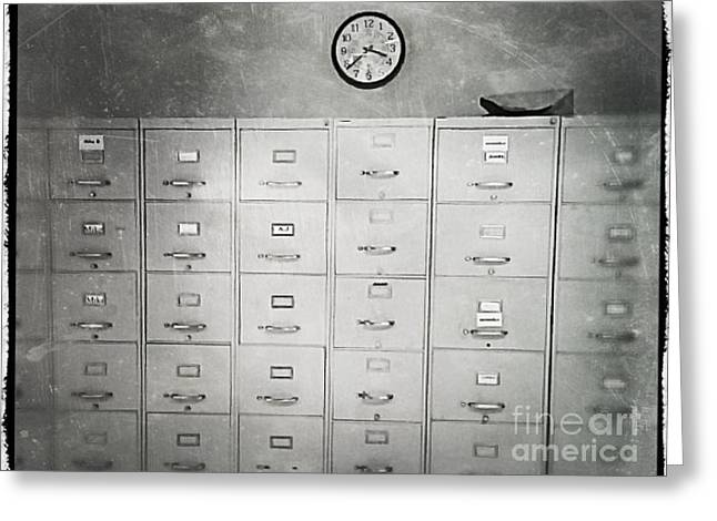 Work Place Greeting Cards - Clock Greeting Card by Perry Webster
