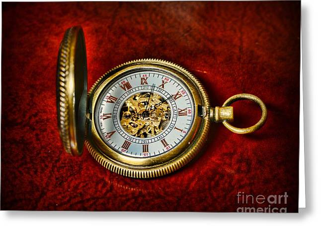 Watchmaker Greeting Cards - Clock - The Pocket Watch Greeting Card by Paul Ward