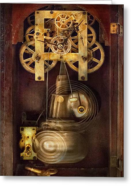 Watchmaker Greeting Cards - Clockmaker - The Mechanism  Greeting Card by Mike Savad