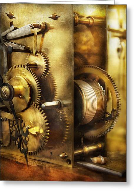 Clockmaker - We All Mesh Greeting Card by Mike Savad