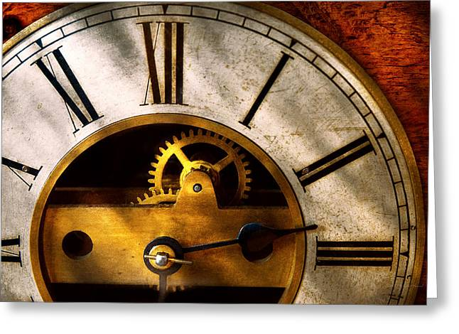 Clocksmith Greeting Cards - Clockmaker - What time is it Greeting Card by Mike Savad
