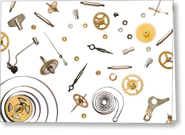 Mechanism Greeting Cards - Clocks Parts Greeting Card by Thomas LENNE