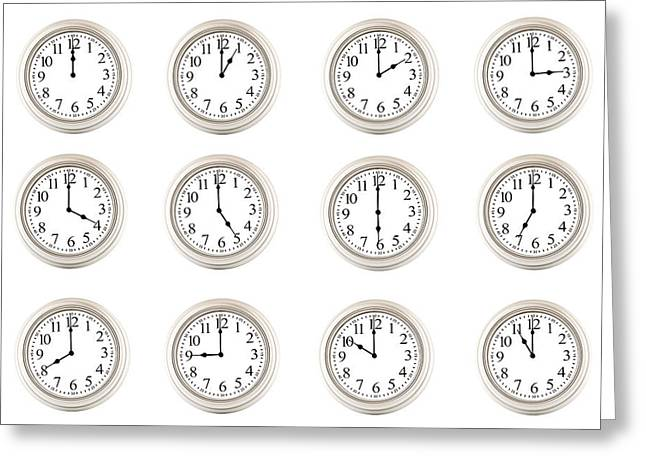 O Lord Greeting Cards - Clocks Time After Time E57 Greeting Card by Wendell Franks