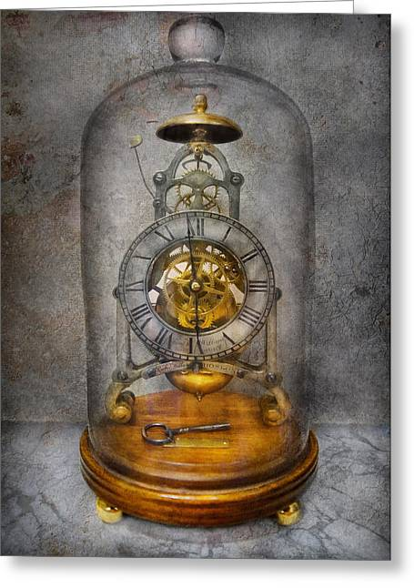 Watchmaker Greeting Cards - Clocksmith - The Time Capsule Greeting Card by Mike Savad