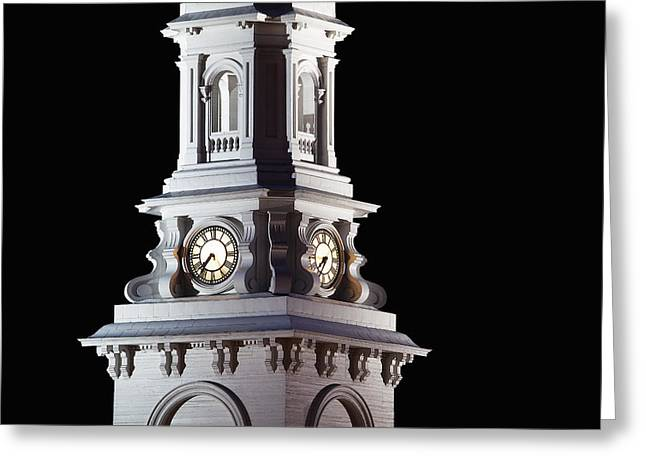 Clocktower Greeting Cards - Clocktower by Night Greeting Card by Eric Gendron