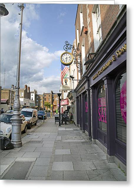 Modern Photographs Greeting Cards - Clockwork Dublin Ireland Greeting Card by Betsy A  Cutler