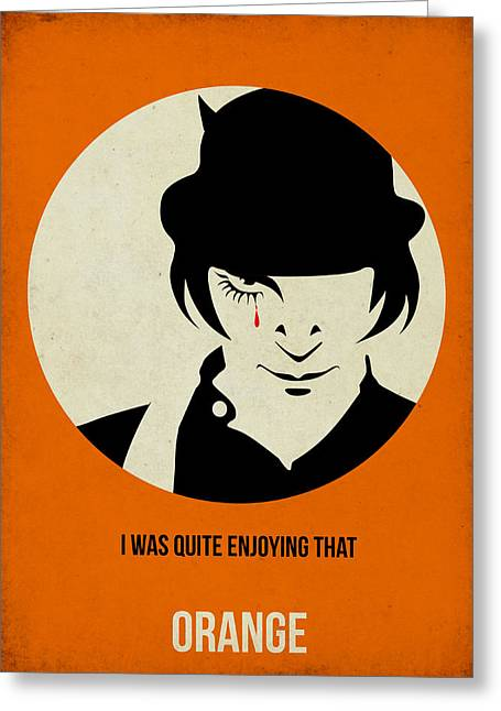 Orange Posters Greeting Cards - Clockwork Orange Poster Greeting Card by Naxart Studio
