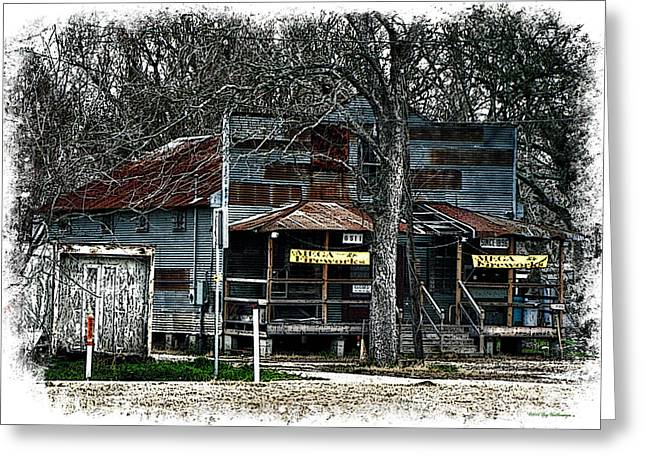 Historic Country Store Greeting Cards - Clodine Post Office Greeting Card by Lucy VanSwearingen