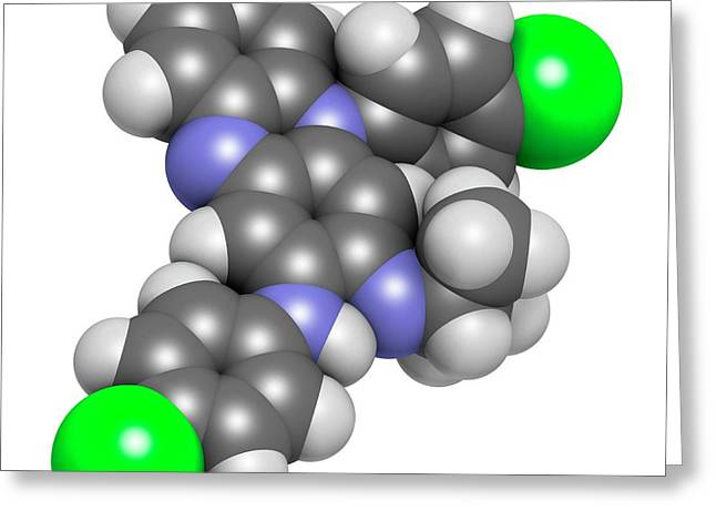 Clofazimine Leprosy Drug Molecule Greeting Card by Molekuul