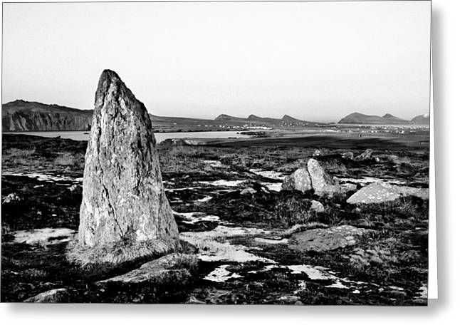 Clogher Head Megalith From The Ring Of Kerry Greeting Card by Mark E Tisdale