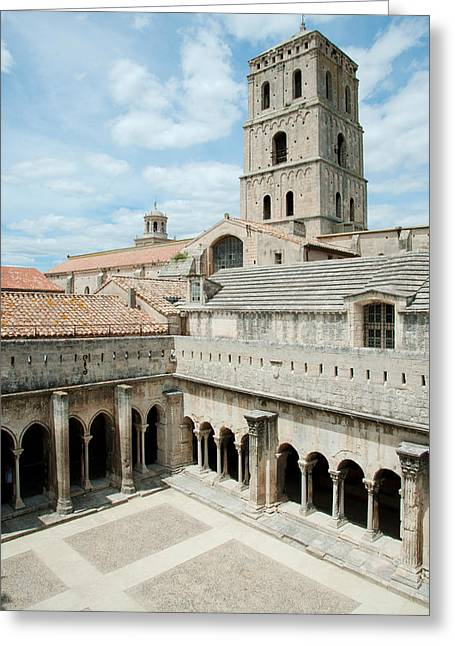 Cloister Greeting Cards - Cloister Of St. Trophime, Church Of St Greeting Card by Panoramic Images
