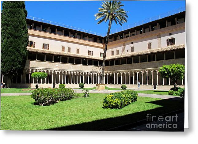Kloster Greeting Cards - Cloister on Mallorca Greeting Card by Art Photography
