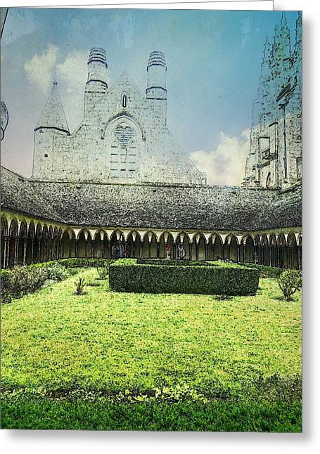Gospel Greeting Cards - Cloisters - Mont St. Michel Greeting Card by Candee Lucas
