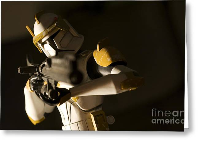 Blaster Greeting Cards - Clone Trooper 1 Greeting Card by Micah May