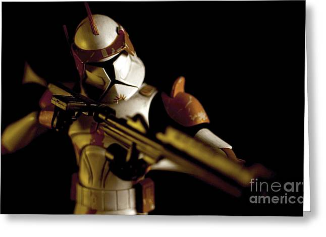 Blaster Greeting Cards - Clone Trooper 2 Greeting Card by Micah May