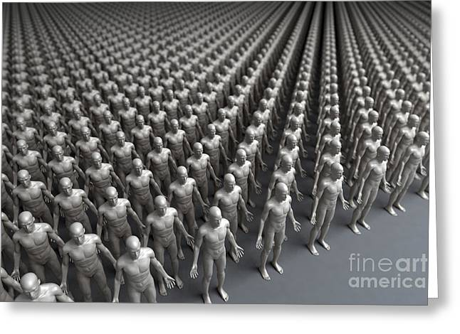 Human Forms Greeting Cards - Cloning Greeting Card by Science Picture Co