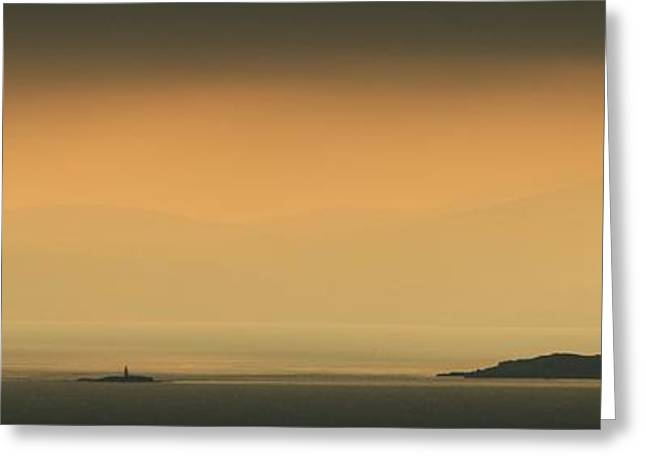 Mystical Landscape Greeting Cards - Close of Day Dublin Bay Greeting Card by Robert Phelan