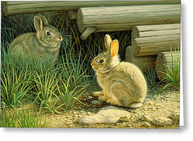 Wildlife Greeting Cards - Close to Cover Greeting Card by Paul Krapf