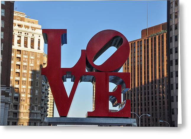 """love Park"" Greeting Cards - Close to Love Greeting Card by Bill Cannon"