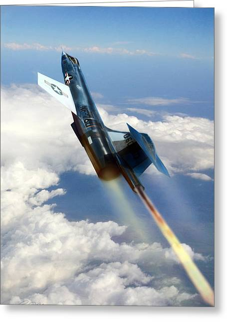 Starfighter Greeting Cards - Close To The Edge NF-104 Greeting Card by Peter Chilelli
