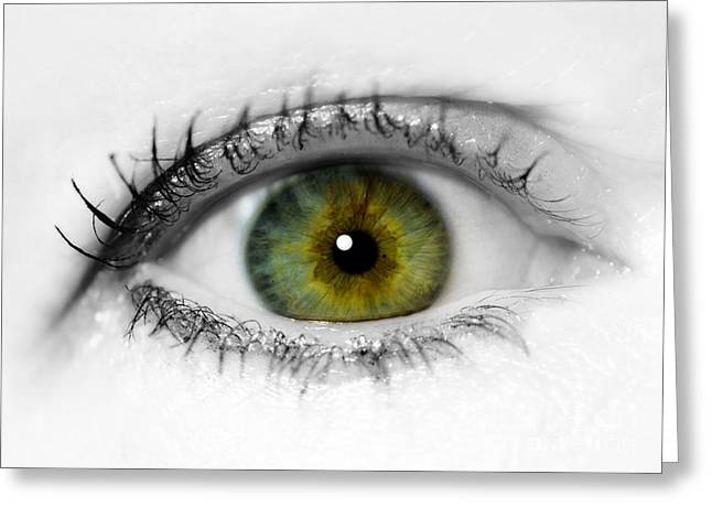 Close Up Eye Greeting Card by Amanda And Christopher Elwell