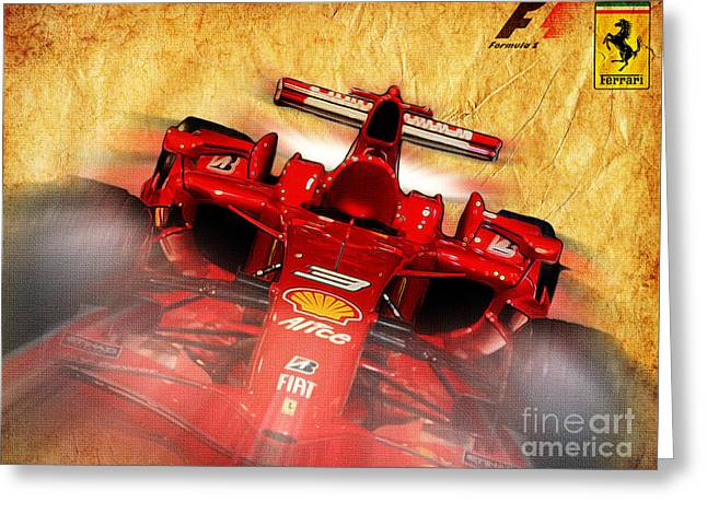 Indy Car Greeting Cards - Close-up of a Ferrari Greeting Card by Stefano Senise