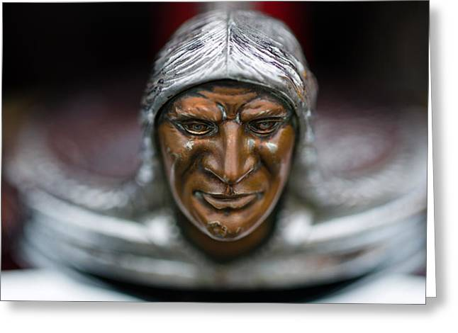 Collector Hood Ornament Greeting Cards - Close-up Of A Hood Ornament Of Mercury Greeting Card by Panoramic Images