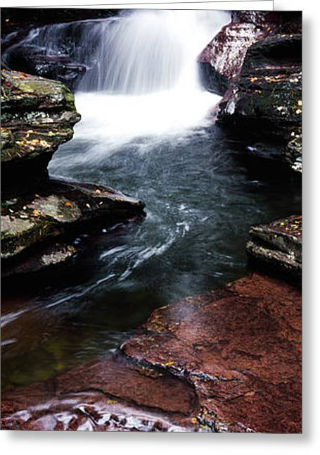 Strength Photographs Greeting Cards - Close-up Of A Waterfall, Ricketts Glen Greeting Card by Panoramic Images