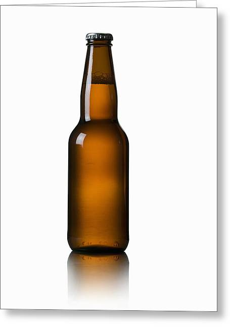 Bottle Cap Greeting Cards - Close-up Of Beer Bottle Greeting Card by Bruno Crescia