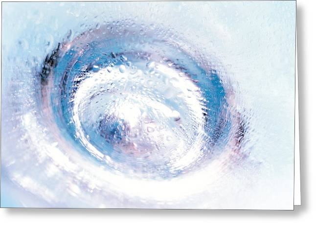 Close Up Of Blown Glass Bottle Bottom Greeting Card by Panoramic Images