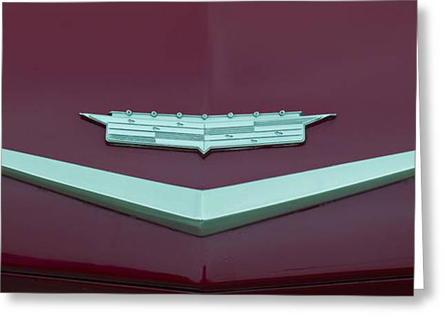 Collector Hood Ornament Greeting Cards - Close-up Of Cadillac Car Logo, Culver Greeting Card by Panoramic Images