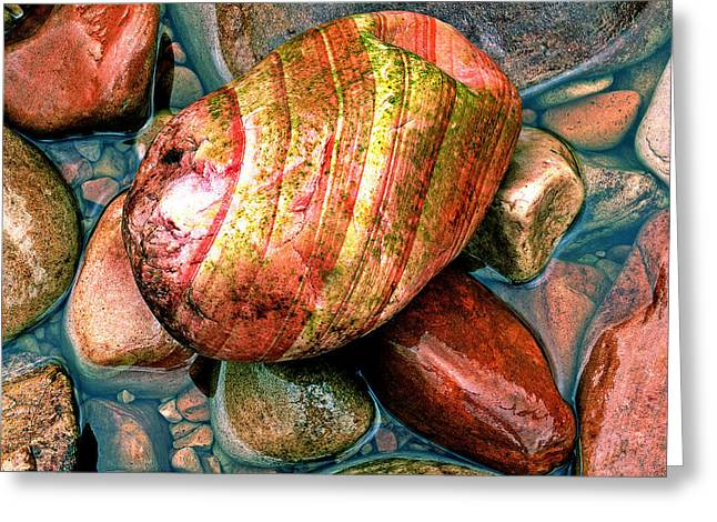 Square Image Greeting Cards - Close-up Of Colorful Rocks Greeting Card by Panoramic Images