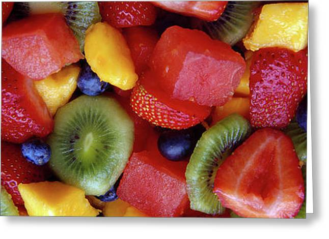 Close-up Of Fruit Salad Greeting Card by Panoramic Images