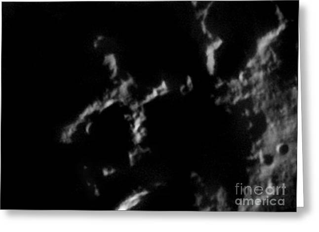 Lunar Surface Greeting Cards - Close-up Of Lunar X Greeting Card by John Chumack